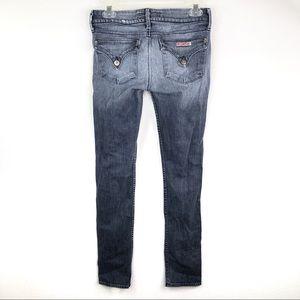 Hudson Flap Pocket Skinny Jeans Ripped Knee 27